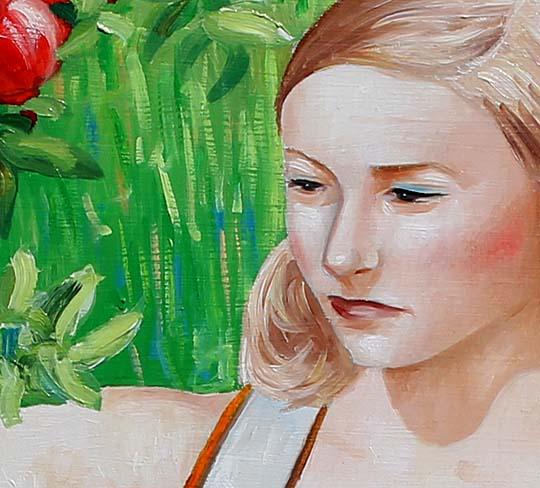 detail of apple picker artwork