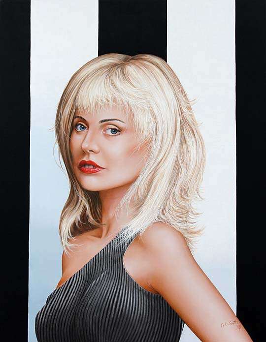 Portrait artwork of Deborah Harry
