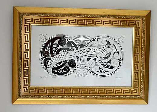 framed celtic tuatara art