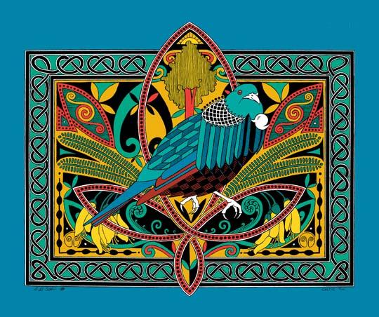 celtic tui canvas print