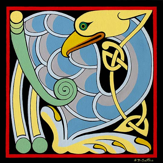 celtic bird artwork
