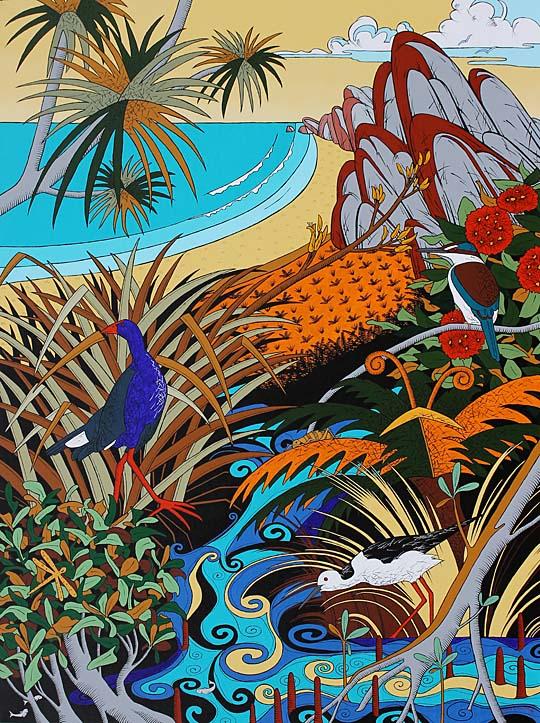 New Zealand estuary painting