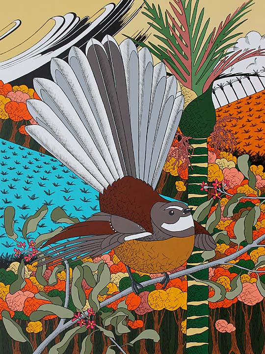 New Zealand Fantail painting
