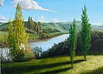 Waipaoa River landscape painting