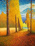 Impressionist landscape artwork