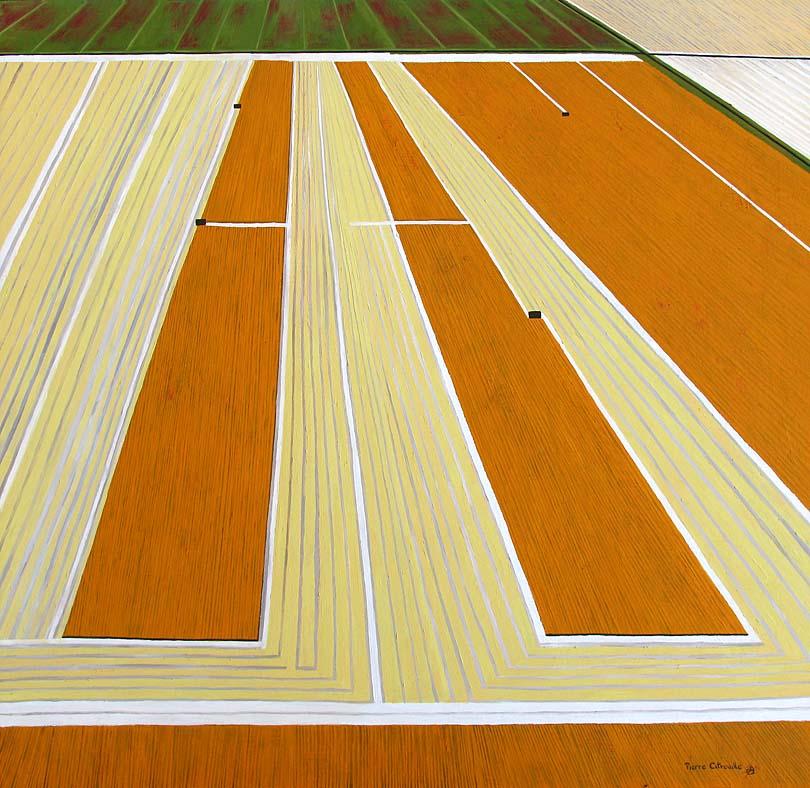 modern abstract art of a crop harvest