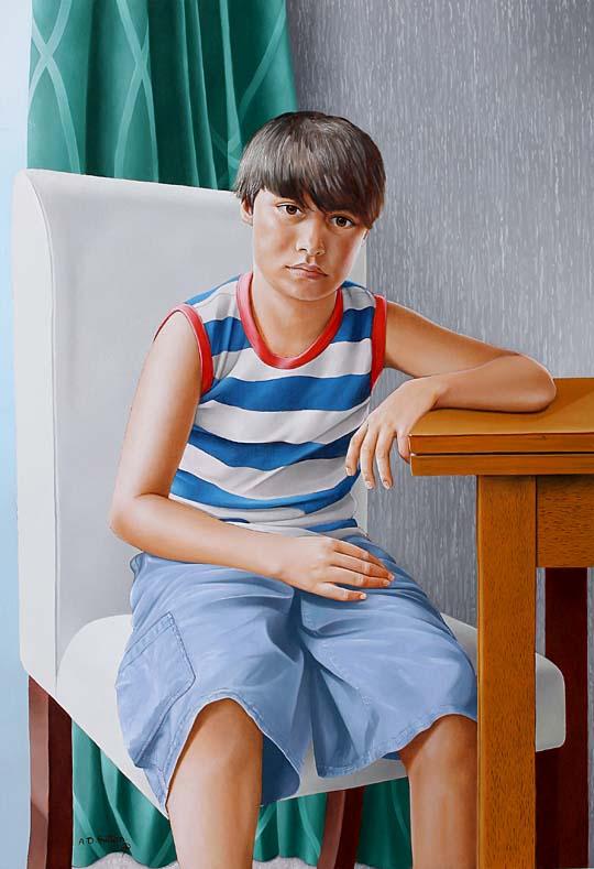 portrait painting of Jake