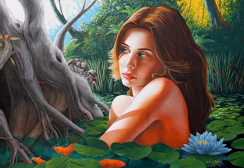 Mythology art the Lady of the Lake