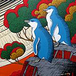 modern bird painting