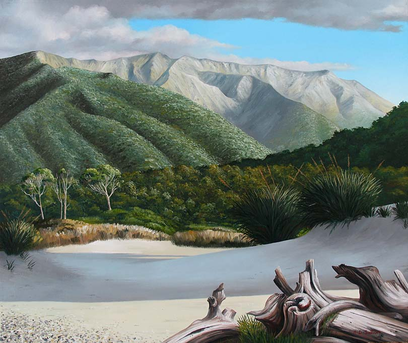 Martins Bay coastal landscape art