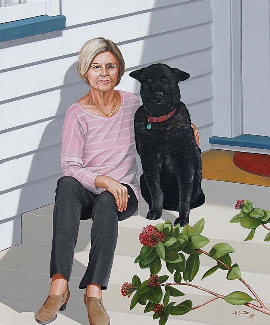 portrait painting of mum