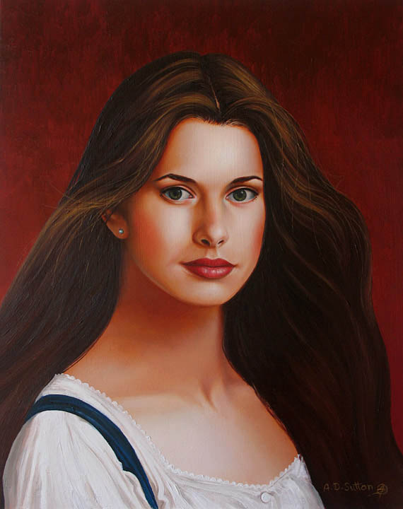 Portrait painting of Nastassia Kinski
