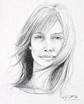 thumbnail of Nastassja Kinski drawing