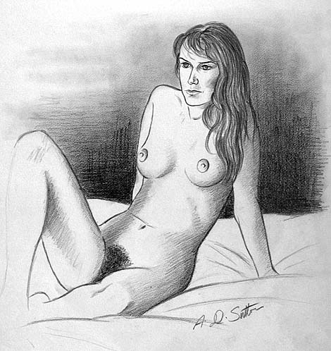 Nude life drawing study