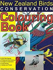 New Zealand birds colouring book