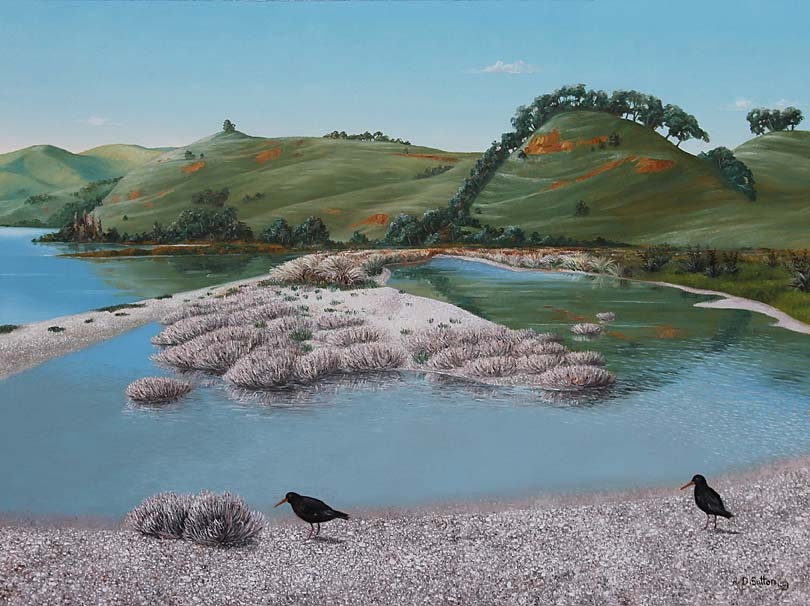 New Zealand estuary artwork