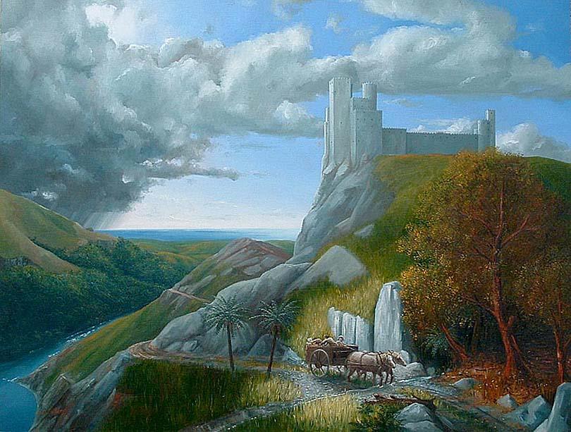 Medieval Landscape Painting