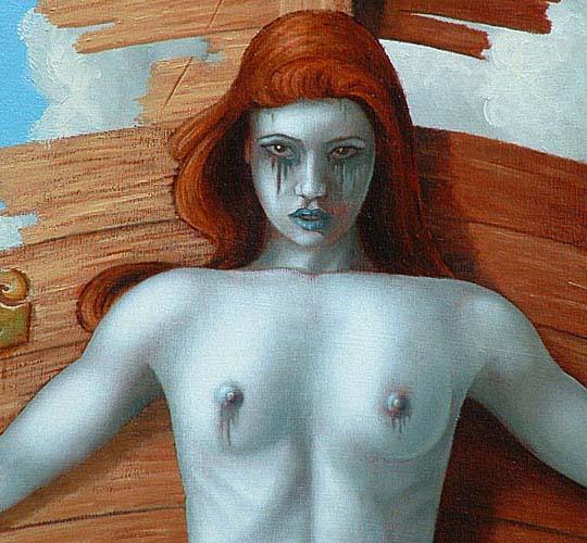 detail of greek mythology painting siren