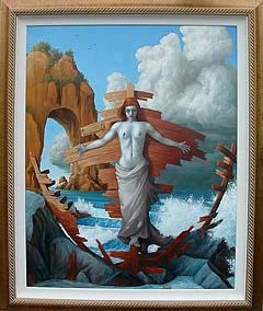 image of framed painting of Siren