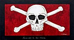 Modern painting of skull and crossbones