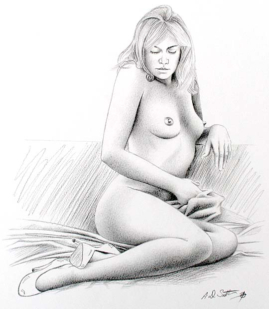 untitled female nude drawing