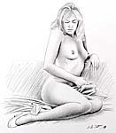 nude pencil drawing
