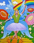 Kids art print of a fairy