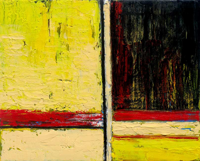 abstract art in yellow