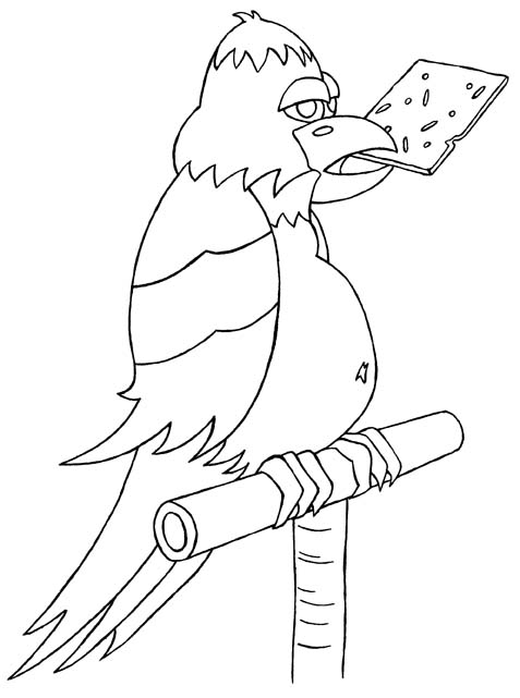 colouring picture of a parrot