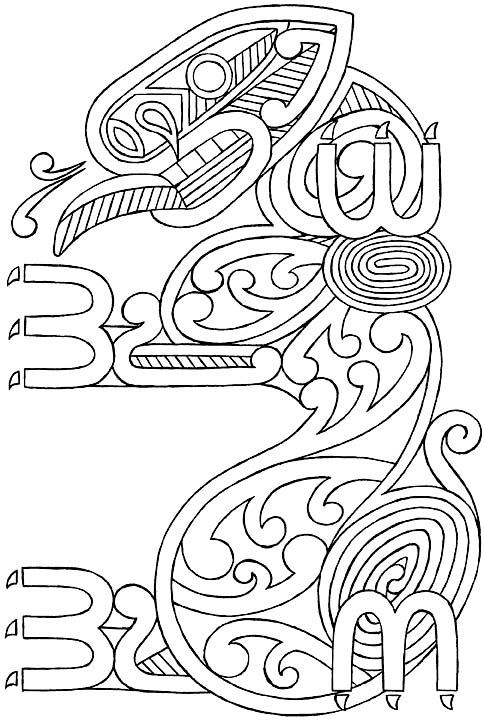 Taniwha Drawing For Coloring