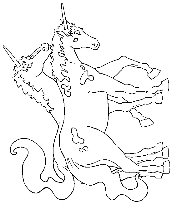 A unicorn drawing for coloring