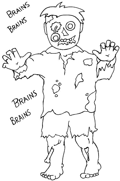 zombie drawing for coloring